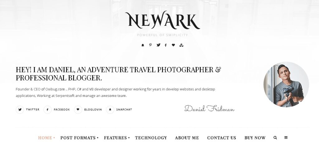 a perfect personal website templates or themes for writers