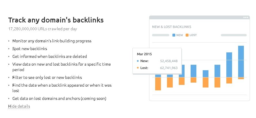 semrush free trial to backlink analyser tool