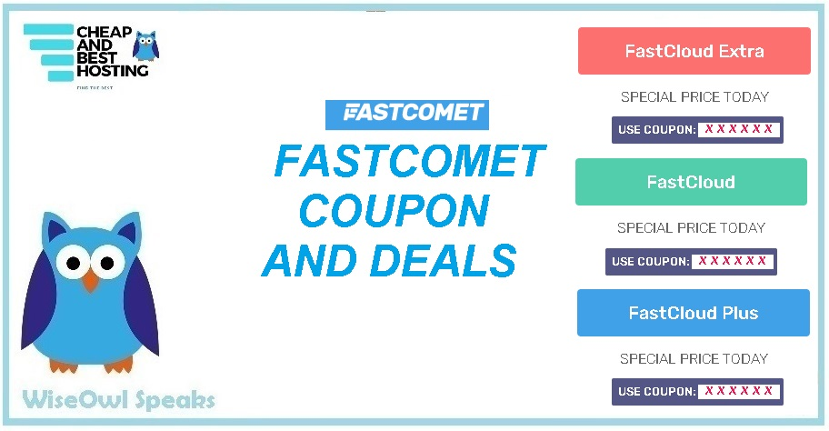 10 Awesome FastComet Coupon to save 70% on Hosting and Domains