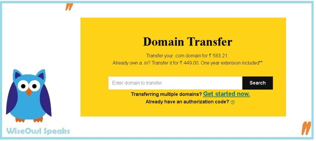 How to save money by transferring the Domain?