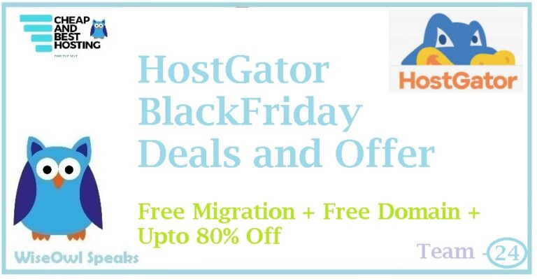 HostGator Black Friday Offers and Deals for 2020