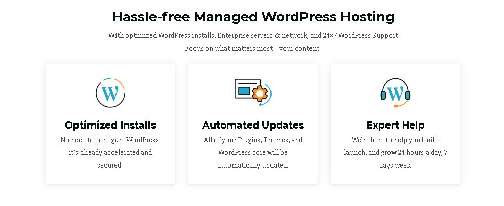 Why OnrRocket's Managed WordPress Hosting hassle free? What help you get?