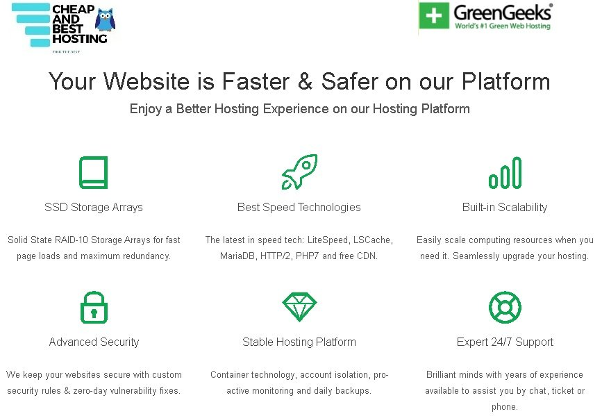 Why GreenGeeks. Benefits of GreenGeeks over competitors