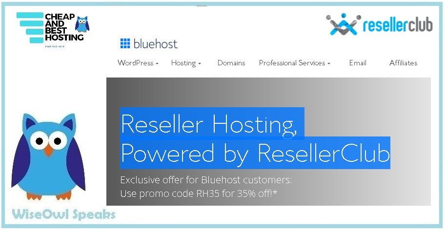 ResellerClub is also trusted by Bluehost