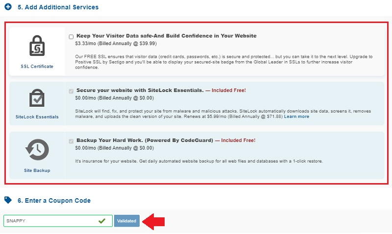 hostgator addons and coupon