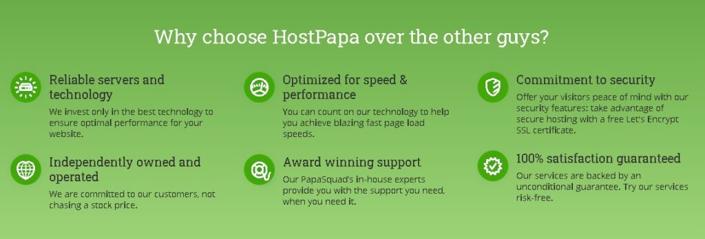 9th alternative and replacement of Godaddy is Hostpapa as per our survey