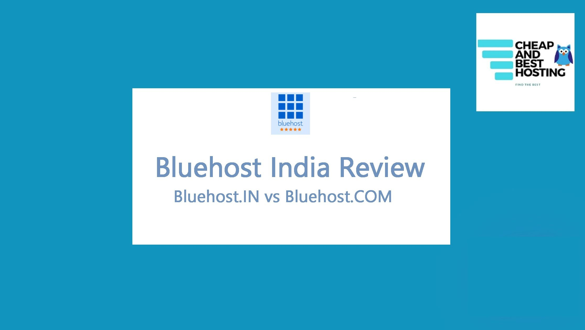 BLUEHOST INDIA REVIEW AND COMPARISION BLUEHOST IN VS BLUEHOST COM