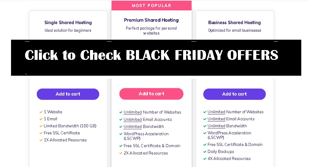 HOSTINGER SHARED HOSTING BLACK FRIDAY OFFERS AND PROMOS