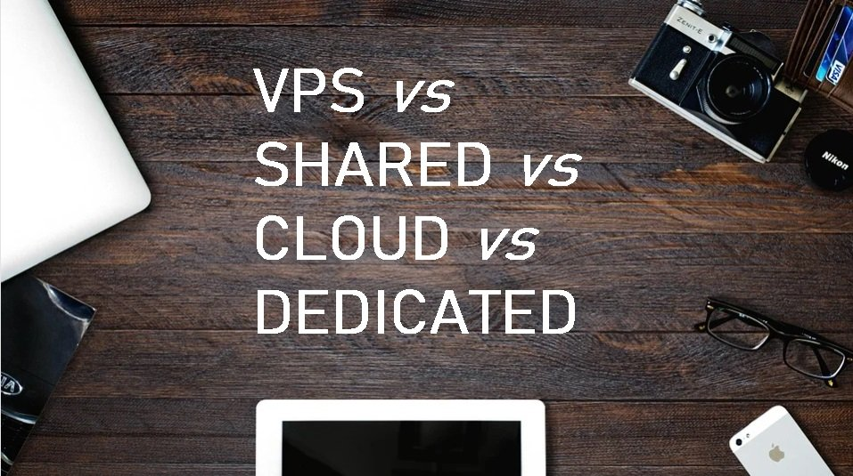 VPS VS SHARED VS CLOUD VS DEDICATED HOSTING