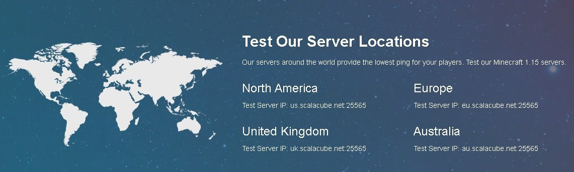 are scalacube servers located in multiple countries for quick speed