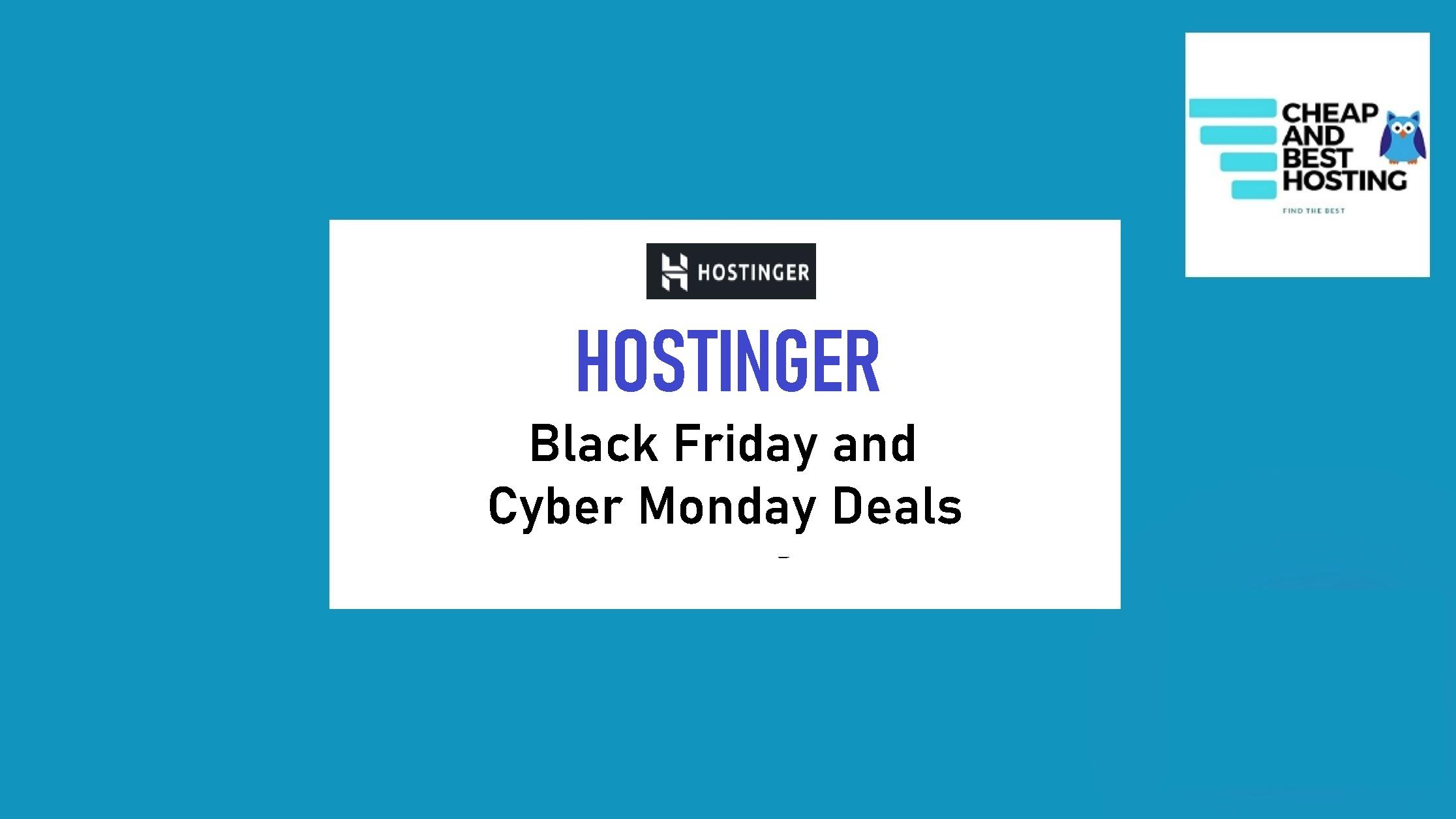 hostinger black friday 2020 deals and offers
