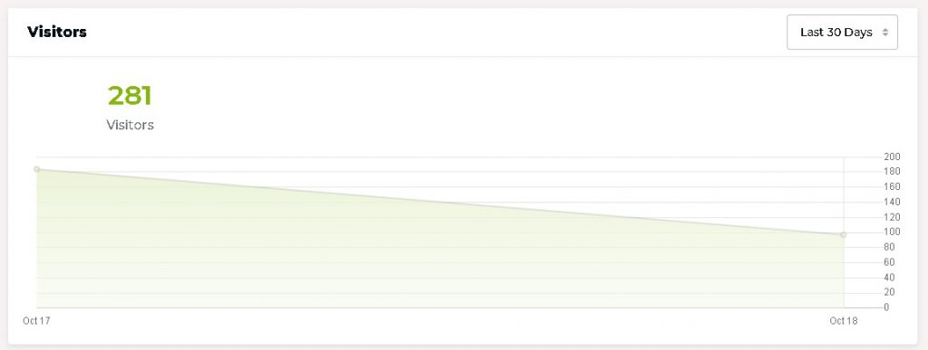 snapshot of visitor analytics feature from rocket hosting