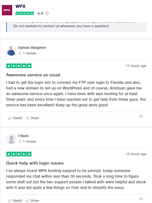 wpx customer ratings and reviews on trustpilot