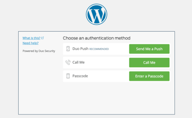 two-factor authentication in wordpress