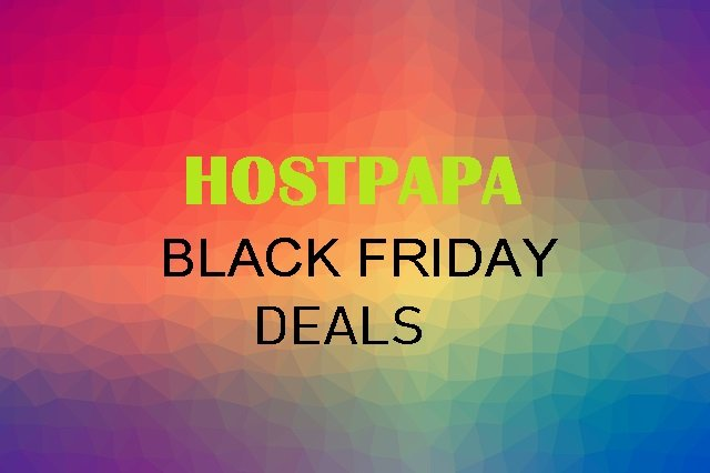HOSTPAPA BLACK FRIDAY DEALS