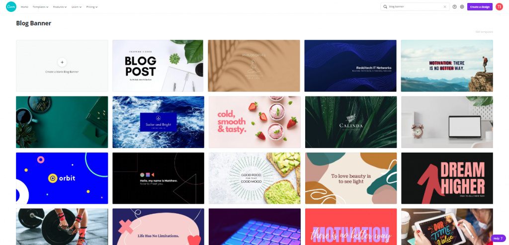 templates from canva for blog banner, blog banner templates, How to create Blog Banners