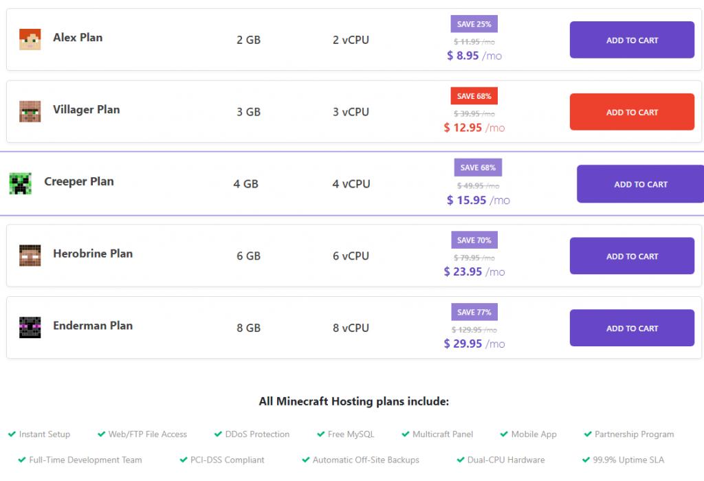 minecraft hosting plan, hostinger, black friday