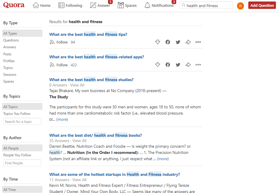 How and Where to Find Blog Post Ideas, quora results