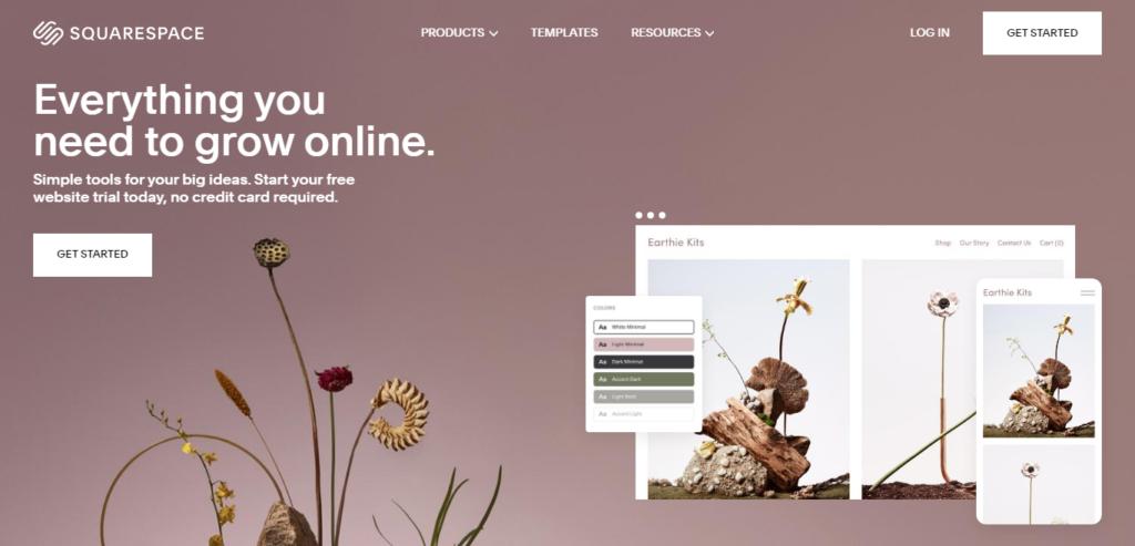 squarespace web design and hosting platform