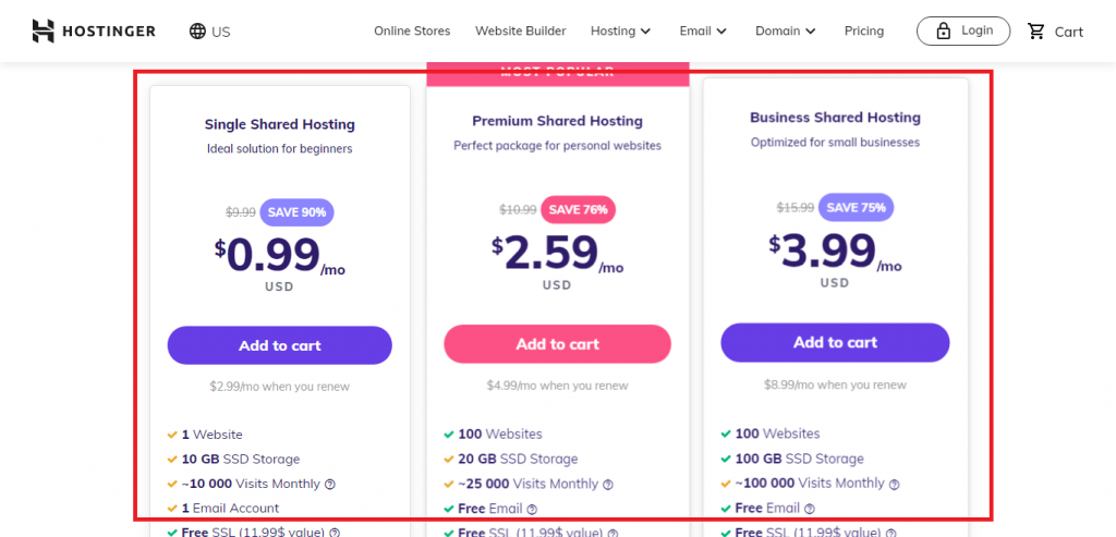 choose a plan, start with hostinger, black friday deals 2020, How to Activate Hostinger Black Friday Deals