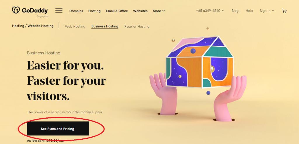 godaddy black friday hosting plan, godaddy steps to buy a hosting