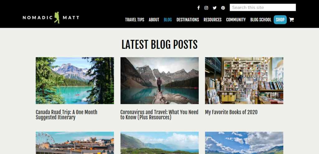 Niche Ideas for Blogging, travel blog