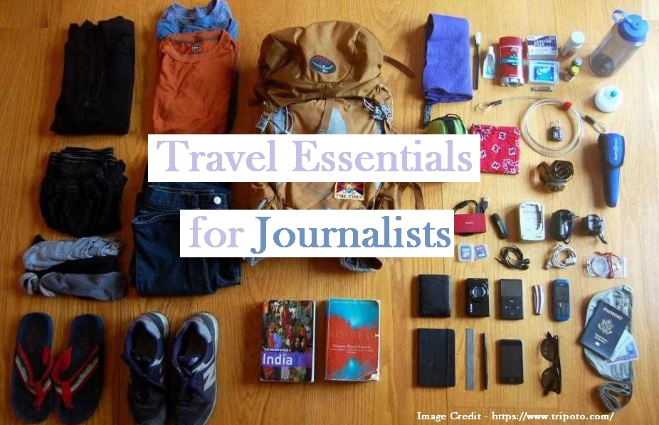 travel essentials for journalists