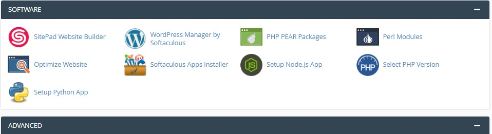 cPanel Software Management