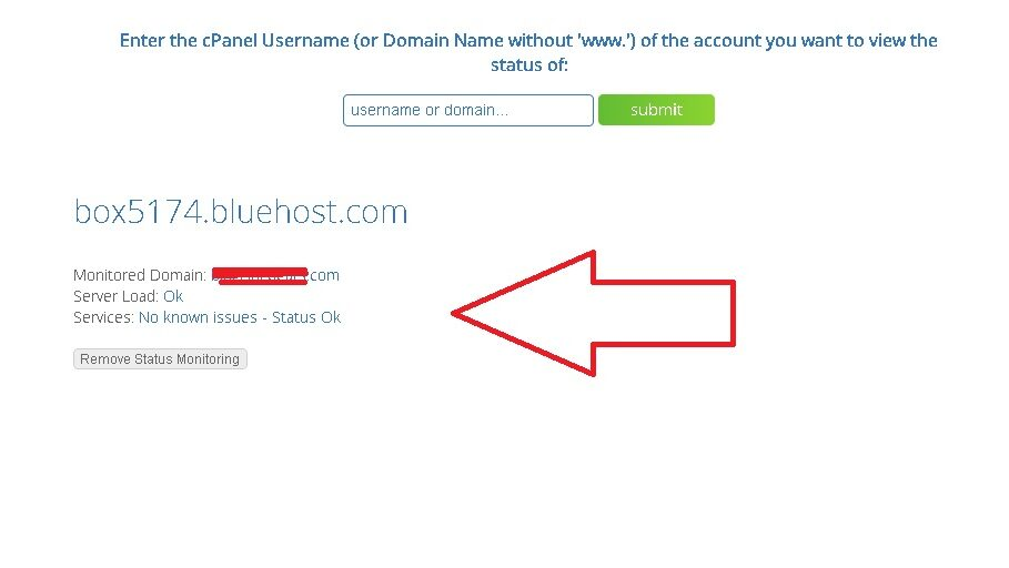 how to check bluehost down and server outage