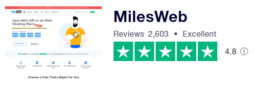 trustpilot's milesweb ratings