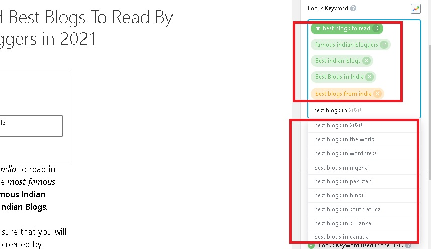 review of rank math keyword optimization feature