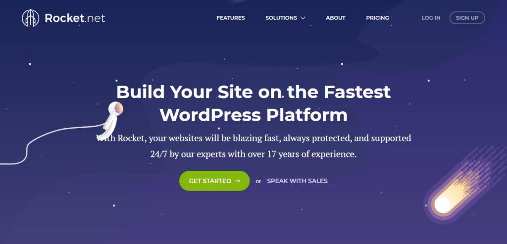 rocket.net managed wordpress hosting