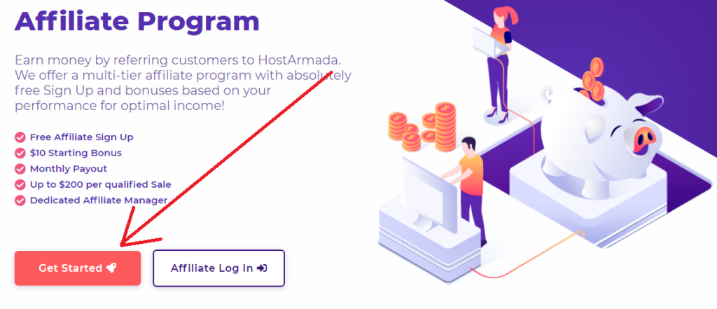 join hostarmada affiliate program, get started with hostarmada affiliate program
