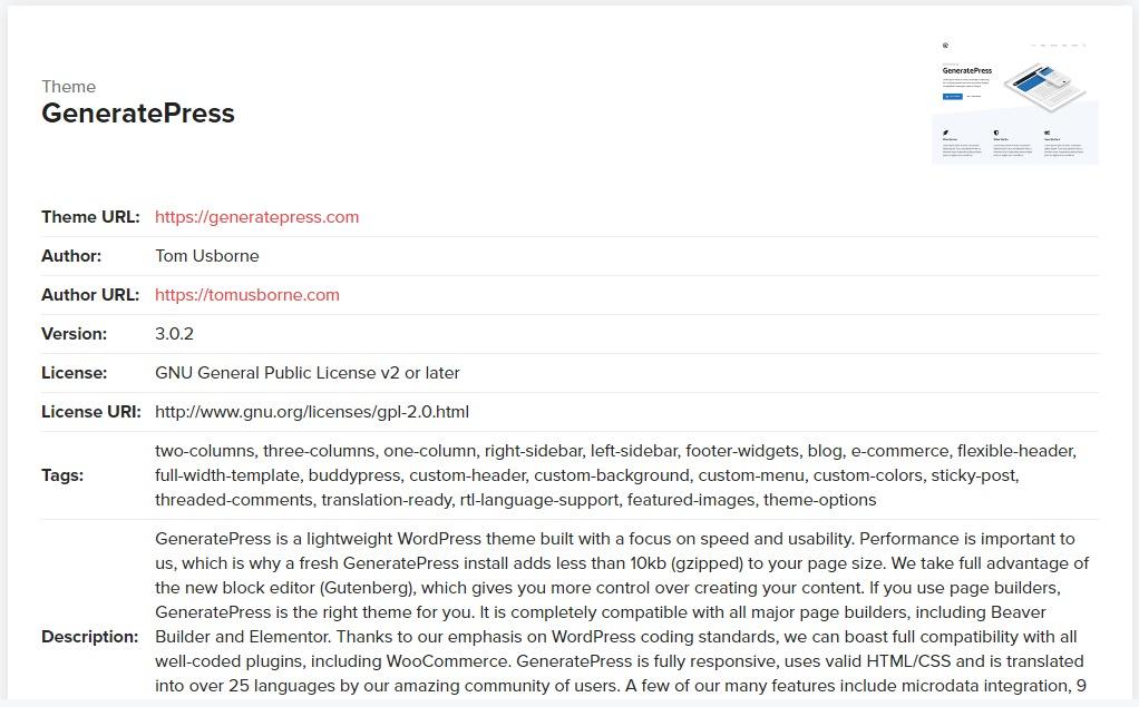 WordPress Theme Detector codeinwp