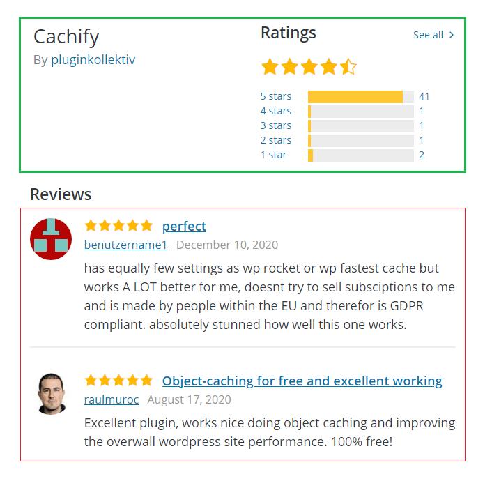 cachify user reviews