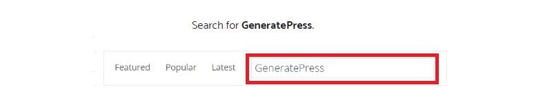 search generatepress