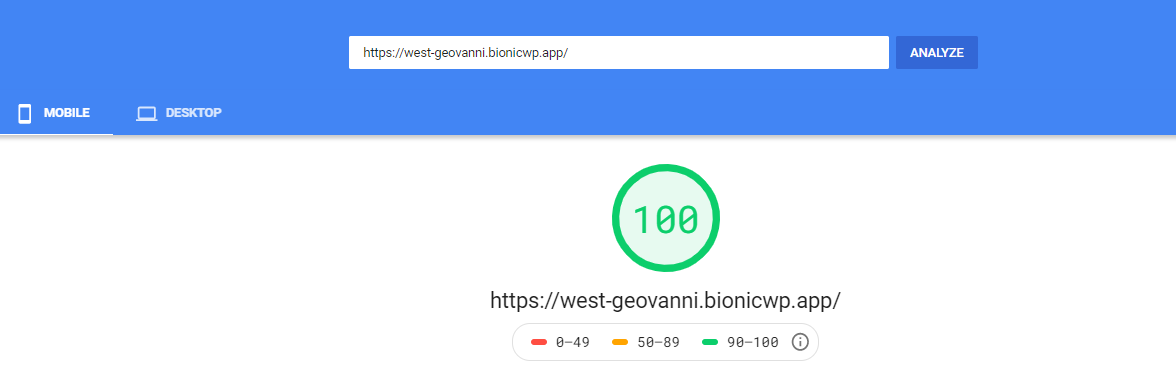 bionicwp speed test