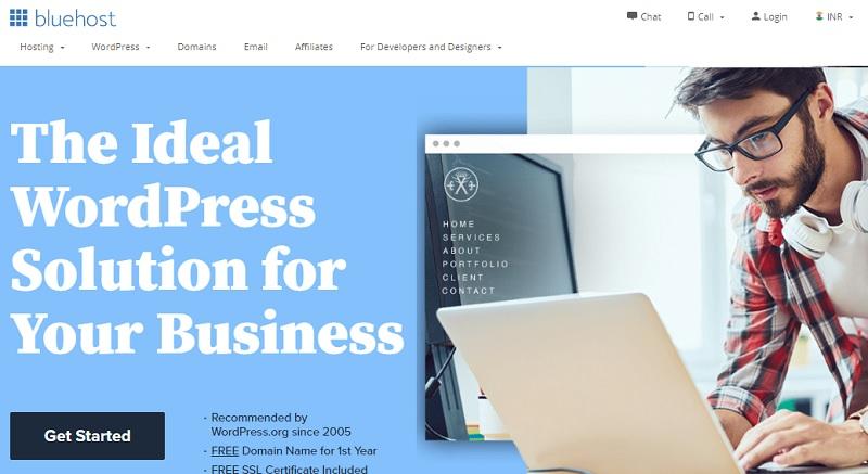 bluehost web host