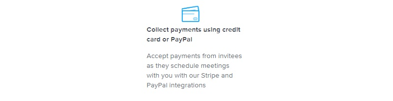 calendly accept payment