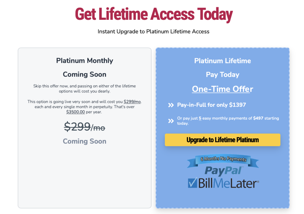 Groovefunnels price and lifetime deal details