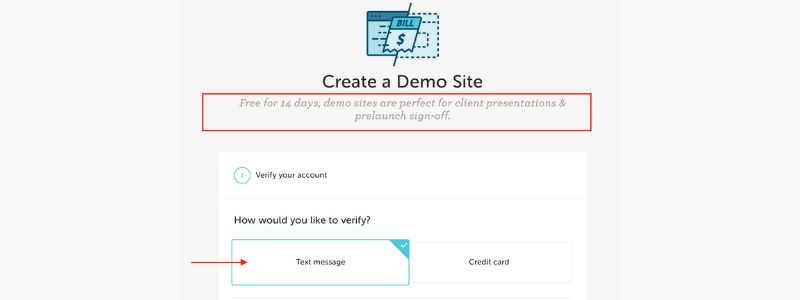 how to create a demo site on flywheel step 3