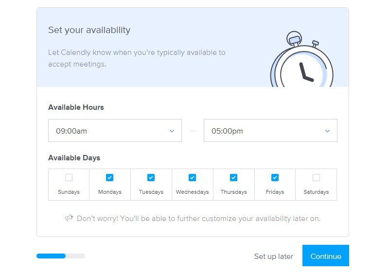 set up availability in calendly
