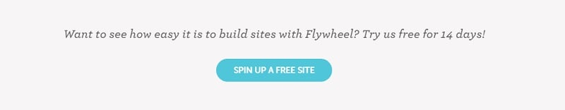 start a demo site with flywheel
