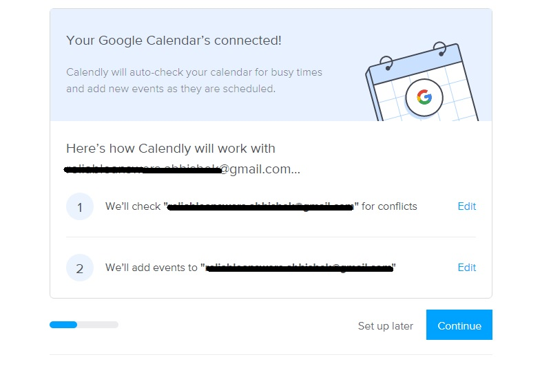 starting with calendly set up