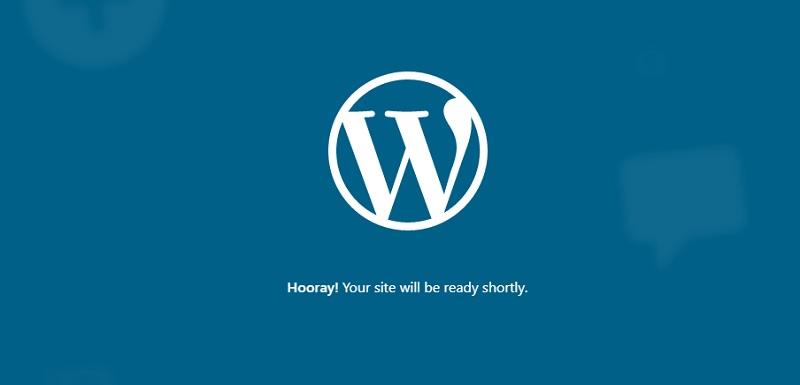 wordpress creating site