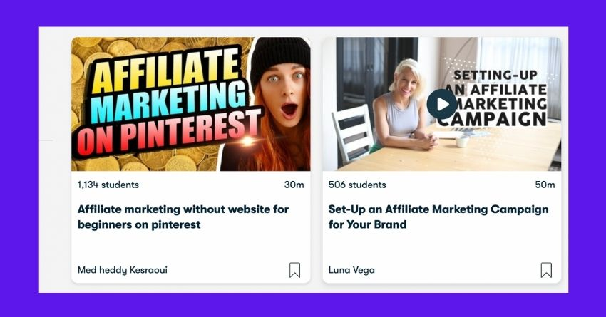 affiliate courses on skillshare