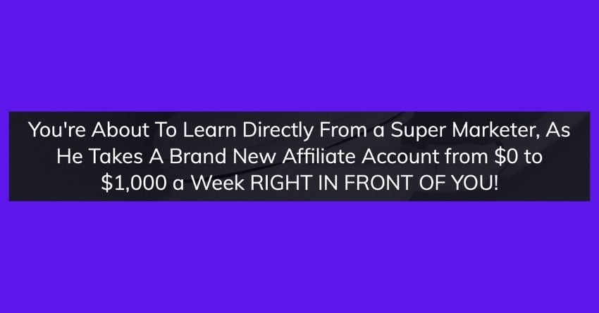 affiliate marketing sean bagheri course