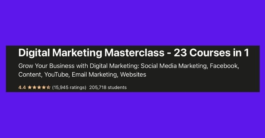 best affiliate course - digital marketing masterclass