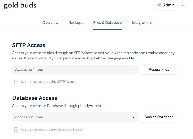 easywp sftp access