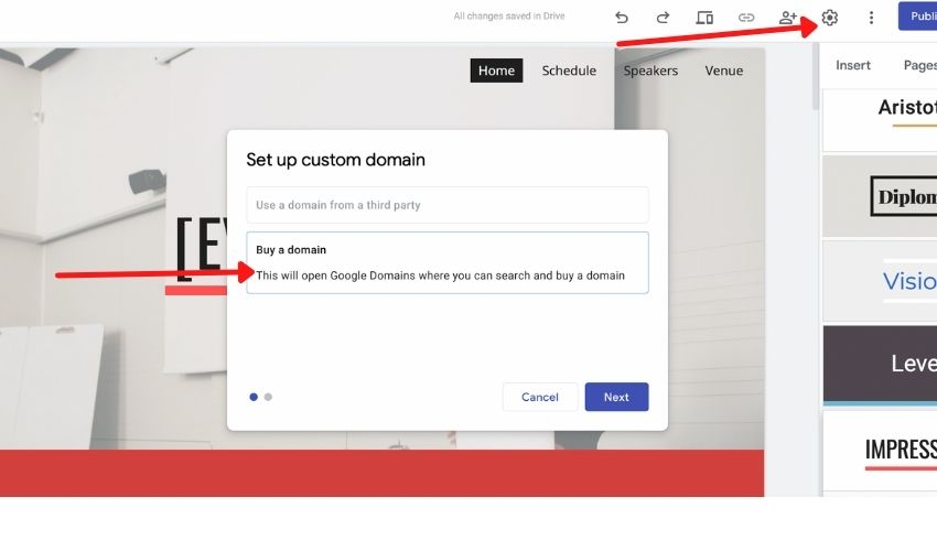 how to add google domains to google sites and blogger